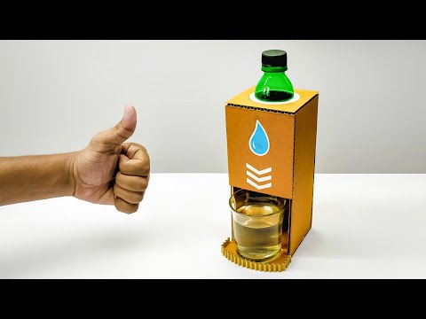 DIY Simple Water Dispenser Machine From Cardboard v2