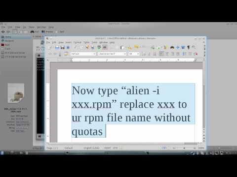 install rpm file in ubuntu(linux)