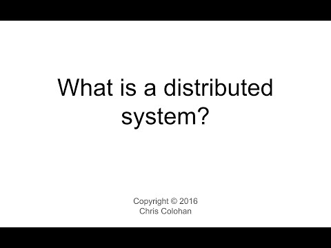 L1: What is a distributed system?