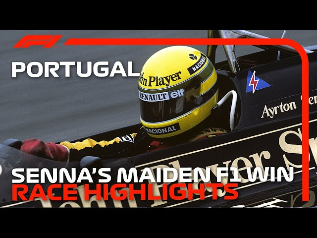 Ayrton Senna's First Win! | 1985 Portuguese Grand Prix: Race Highlights
