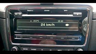 Skoda Superb 2 - driving school mode activation - vključitev dodatnega avtošola prikaza