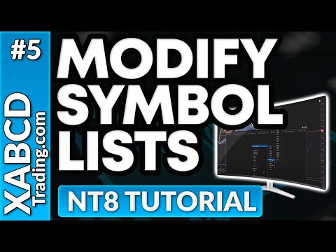 "How to use ""Instrument Lists"" inside of NinjaTrader 8"