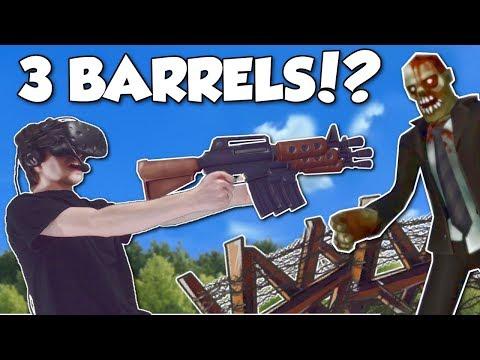 CRAZY 3 BARREL GUN & HUGE BASE! - Undead Development Gameplay - HTC Vive Zombie Survival