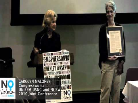 Carolyn Maloney: CEDAW and the US