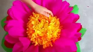 Мастер-класс: огромные цветы из креповой бумаги. Как сделать большие пионы из гофрированной бумаги