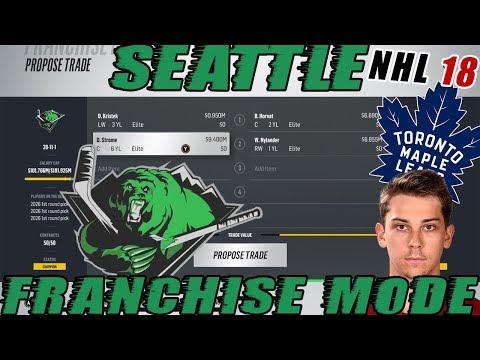 "NHL 18: Seattle Franchise Mode #35 ""STROME TO TORONTO!?"""