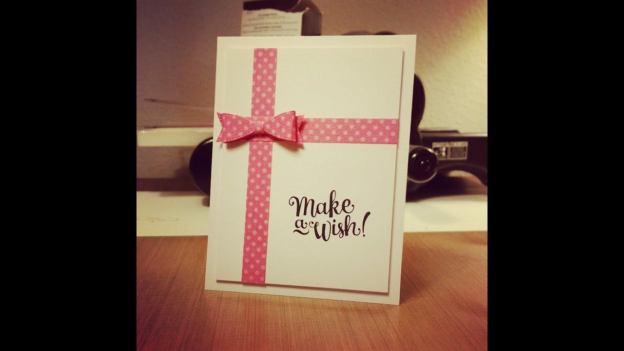 card inspiration birthday card present youtube