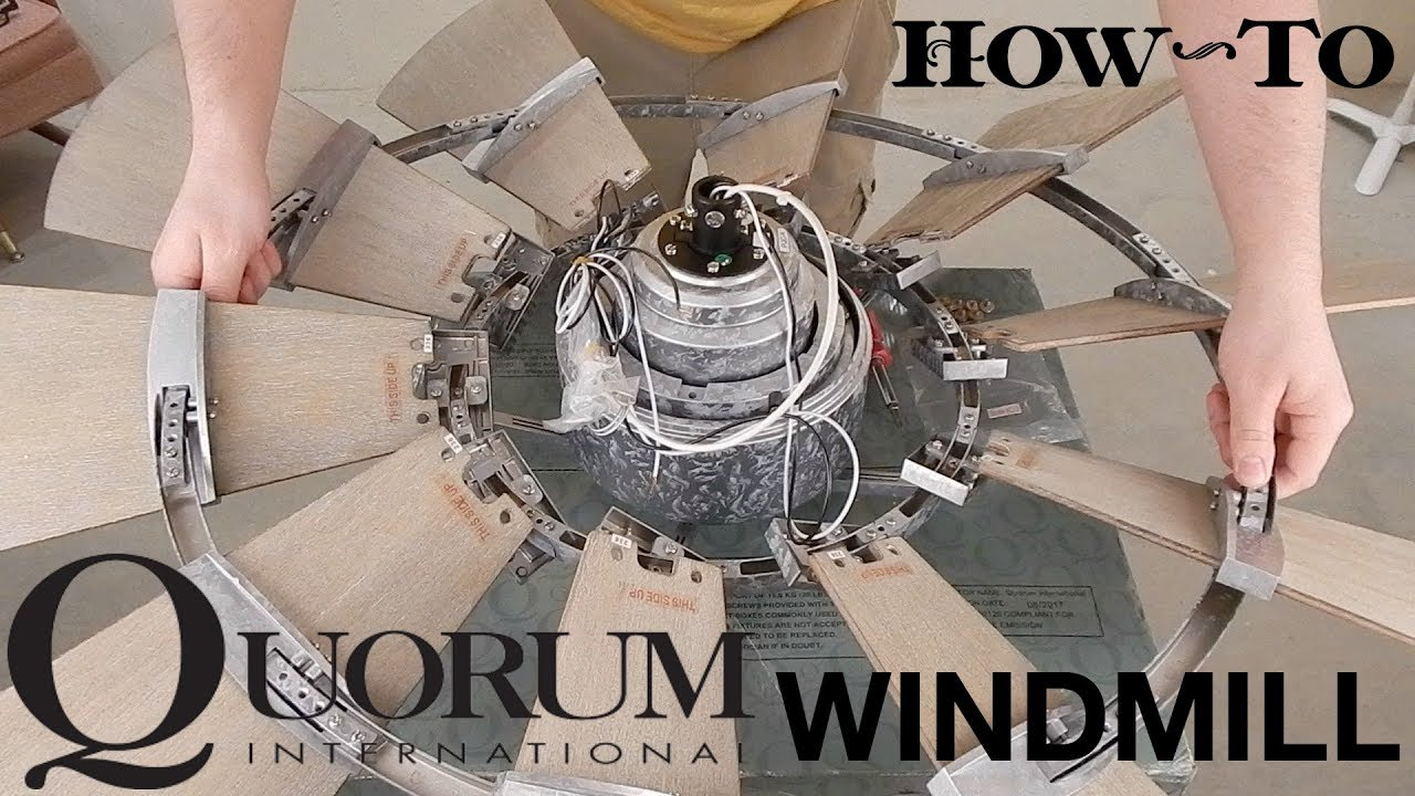 how to install a ceiling fan quorum windmill [ 1280 x 720 Pixel ]
