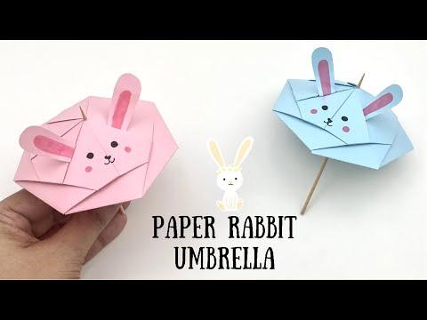How to make Paper Rabbit Umbrella / easy paper crafts for kids / Paper Craft Easy / KIDS crafts