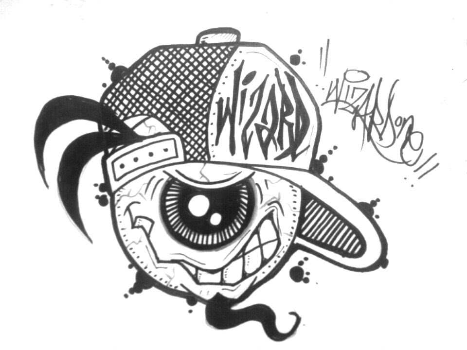 How to draw a graffiti character with one eye como dibujar con un ojo graffiti youtube