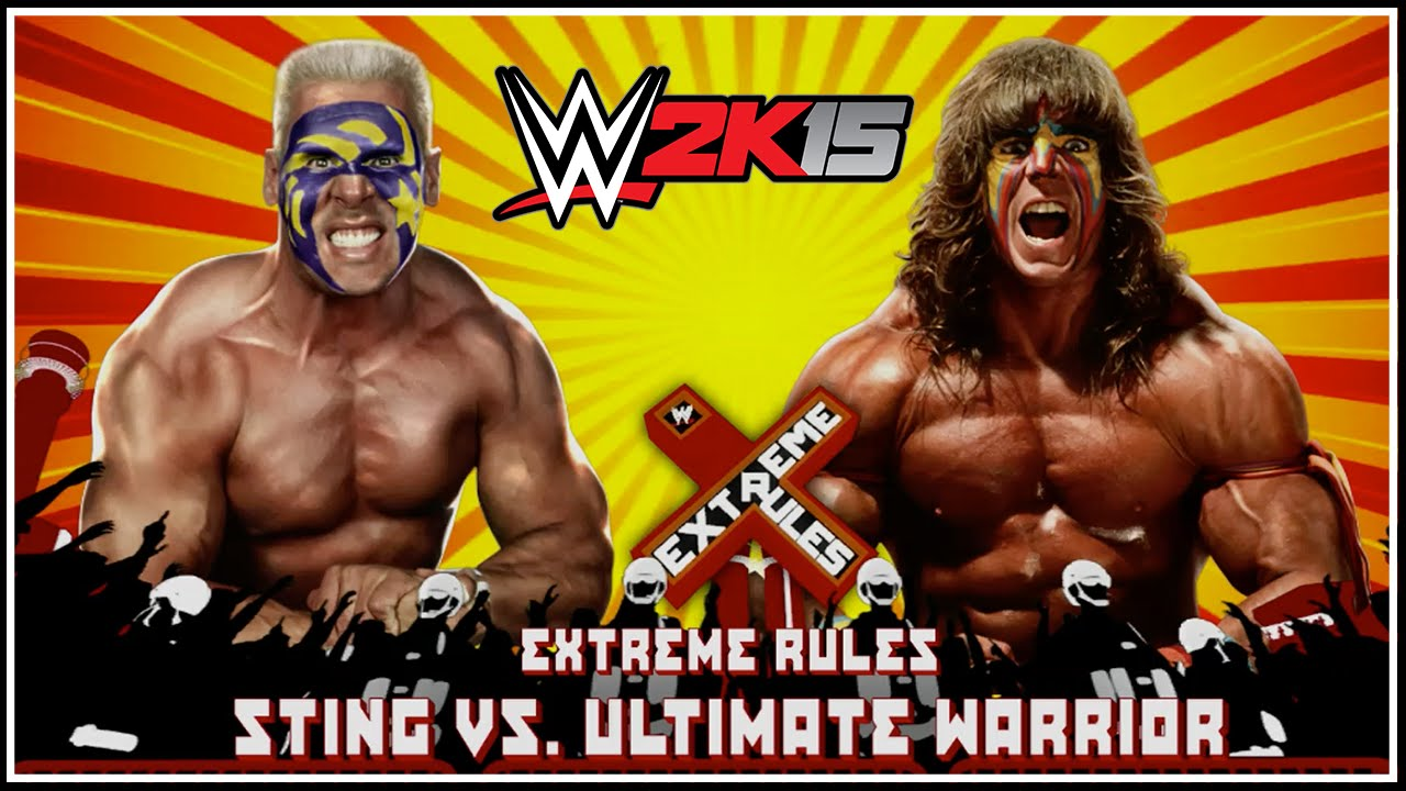 WWE 2K15 - Sting vs Ultimate Warrior: Extreme Rules Match ...