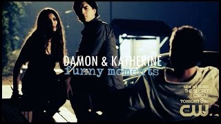 Damon and Katherine | Funny Moments
