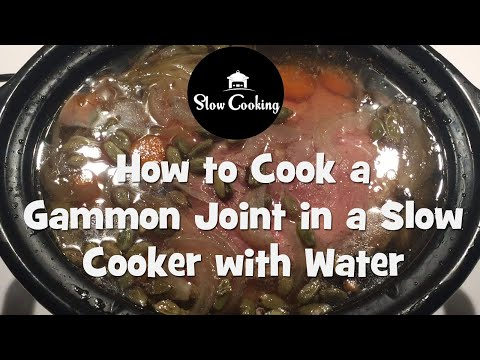 How long do you cook a small gammon joint in the slow cooker