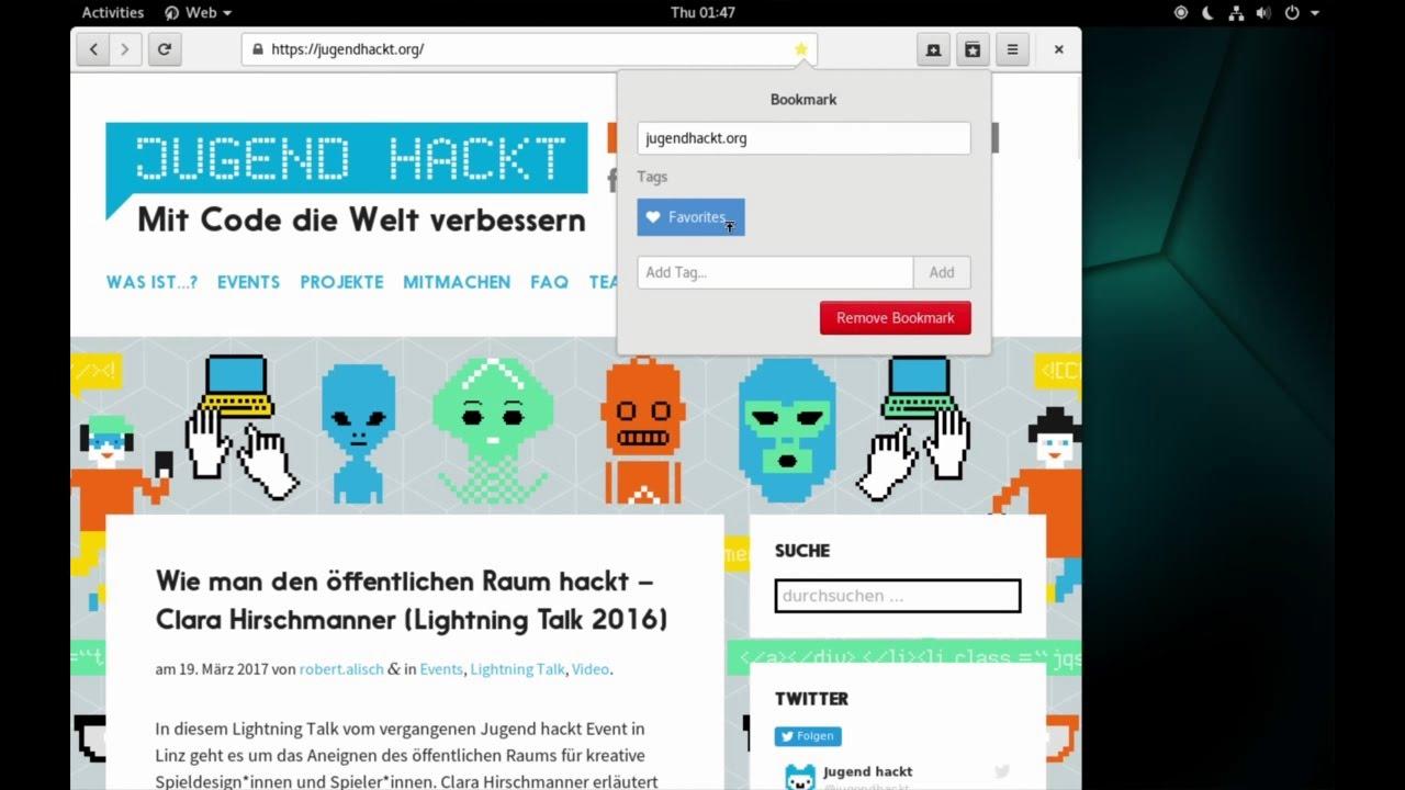 Gnome 3.24 - Web - Demo - YouTube