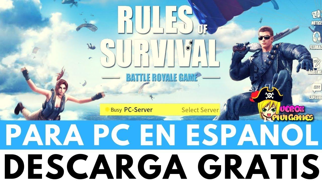 DESCARGAR RULES OF SURVIVAL PARA PC EN ESPAÑO…