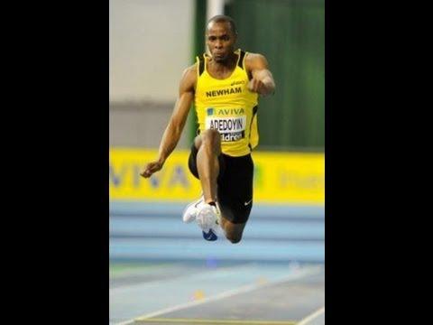 Kola Adedoyin UK number 1 indoor triple jumper Interview by Gavin Townsend