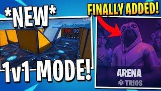 NEW 1v1 Mode Coming to Fortnite! Trio Arenas FINALLY Added!