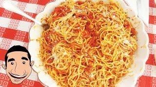 Spaghetti And Meatballs | Chitarra Alla Teramana Made By Nonna Igea