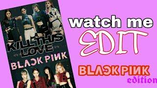 watch me edit BLACKPINK Easy wallpaper picsart edit