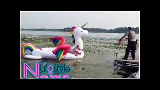 Unicorn Floatie With 5 Women Aboard Rescued After Getting Caught in Minnesota Lake
