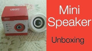 Ubon SP-826 mini speaker unboxing by tech with fact