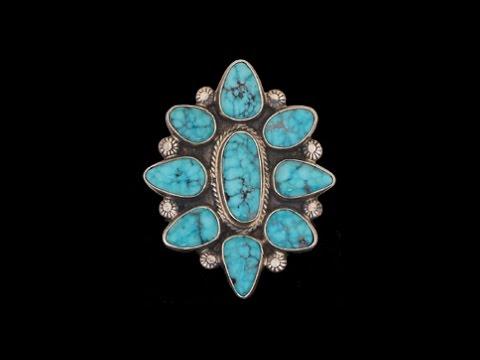 Navajo Adjustable Size Kingman Turquoise Ring By Geraldine Yazzie (#21)