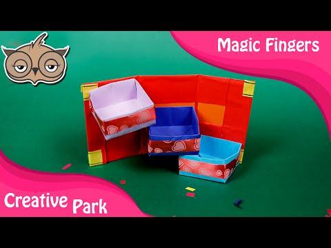 DIY Crafts - How To Make A Paper Desk Organizer