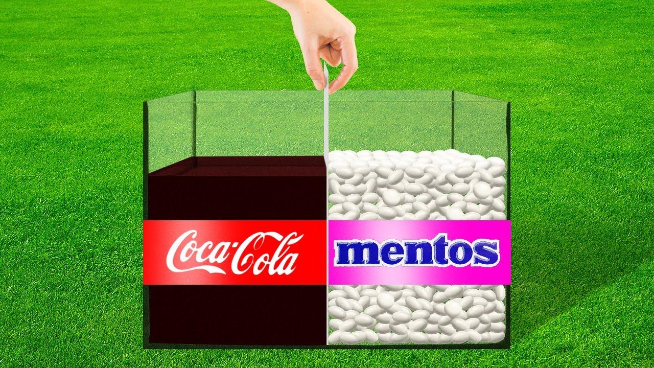 Эксперимент: Кока-Кола и Ментос!
