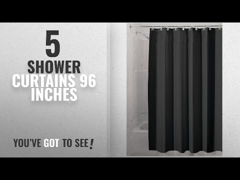 Top 10 Shower Curtains 96 Inches [2018]: InterDesign Water-Repellent and Mildew-Resistant Fabric