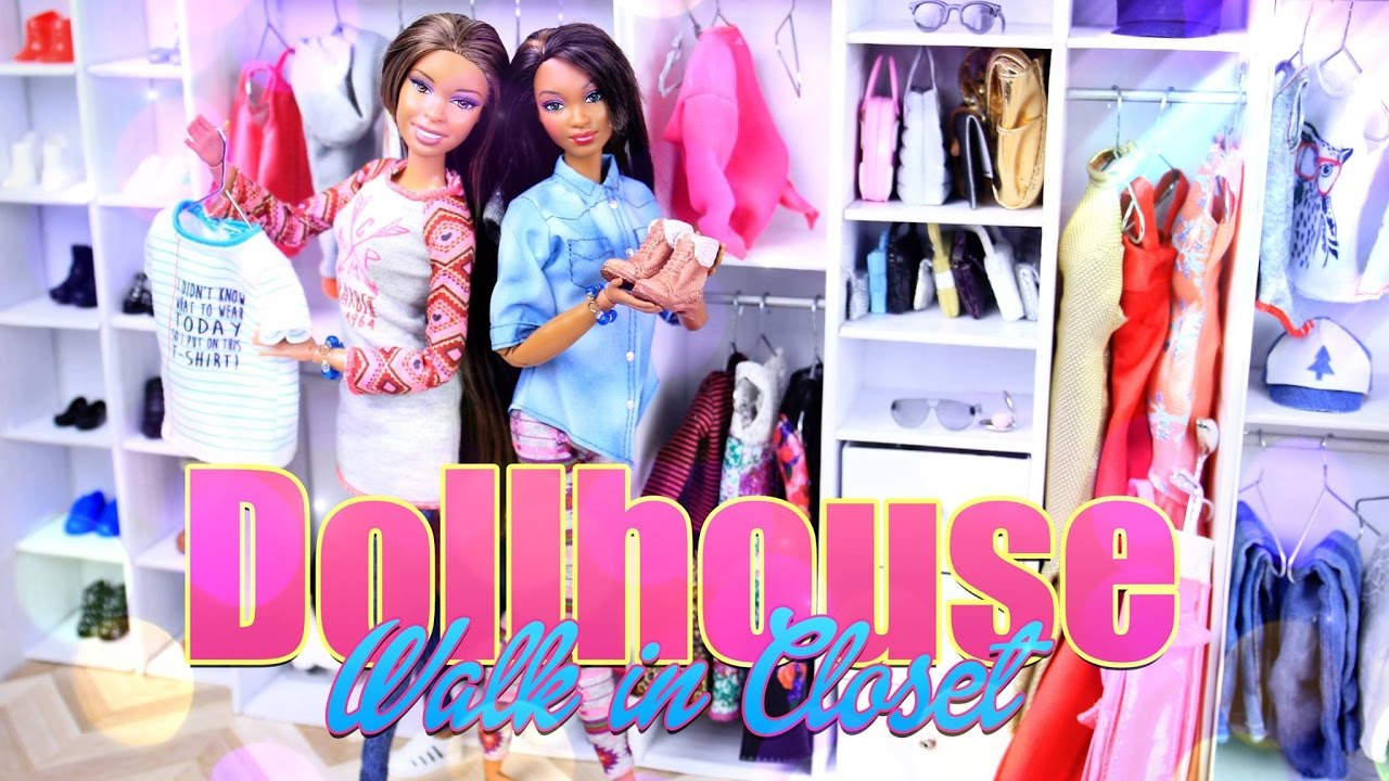 DIY   How To Make: Dollhouse Walk In Closet   Handmade   Recycled   Doll    Craft   4K   YouTube Part 41