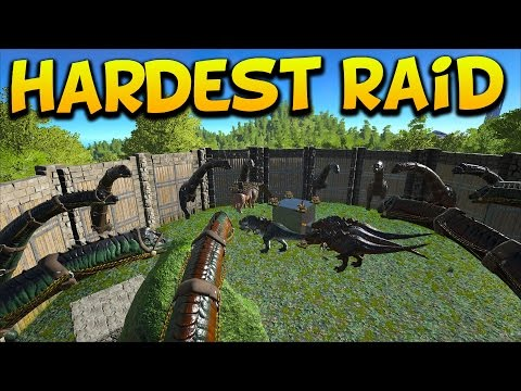 THE HARDEST BASE WE'VE EVER RAIDED Pt 1/2 - Ark Survival Evolved Island No Fliers PVP #9