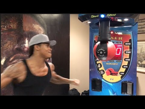NEW RECORD!! 'BEAST' ANTHONY YARDE SETS A NEW RECORD ON FRANK WARREN PUNCH BALL CHALLENGE -