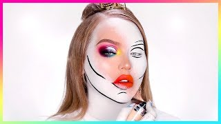 scary clown make up