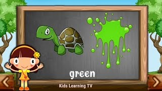 Little Baby Girl Fun Learning Colors for Children with Color Cartoons 3D Kids Learning TV