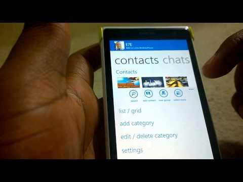 BBM Beta running on Lumia 1020 Windows Phone