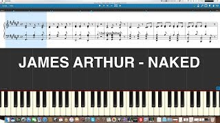 James Arthur *Naked* Piano Cover Synthesia