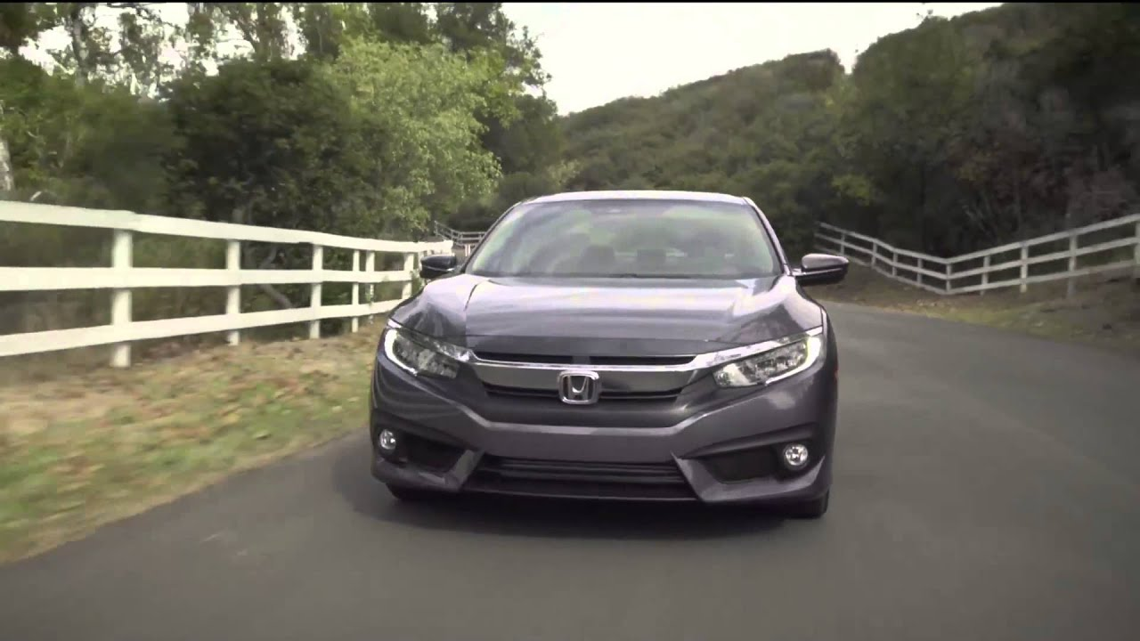 2016 honda civic sedan touring driving video in modern for Honda civic modern steel