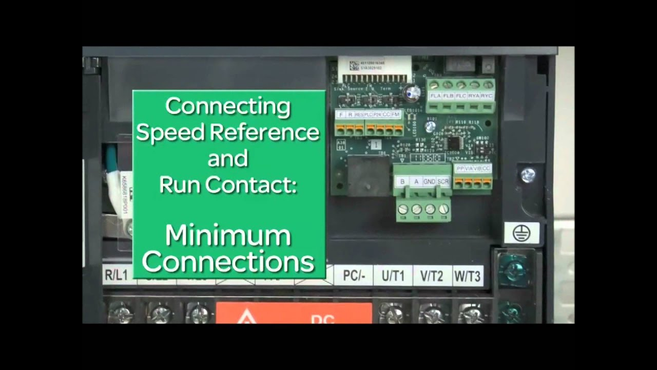 How To Wire Control Wiring For An Hvac Variable Speed Frequency Abb Ach550 Diagram Drive Vfd Altivar 212 Youtube
