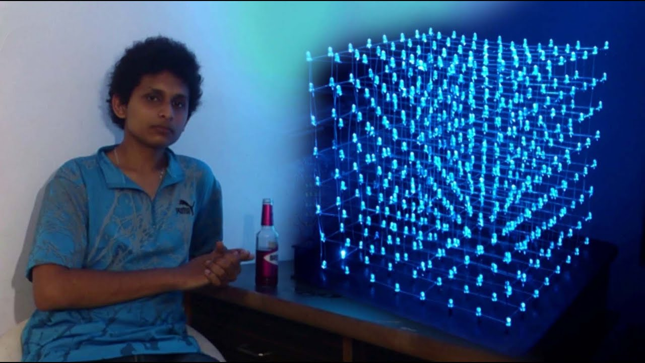 The Build Of An 8x8x8 Quot Led Cube Quot By Noel Mascarenhas Youtube