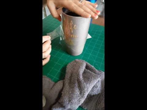 HTV on Stainless steel tumbler/cup