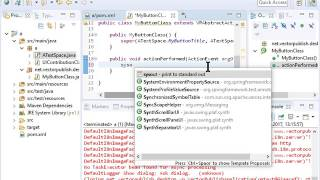 vectorpublish 2 plain base structure creating mybuttonclass and namespace