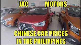 JAC Motors, Chinese Car  Prices In the Philippines