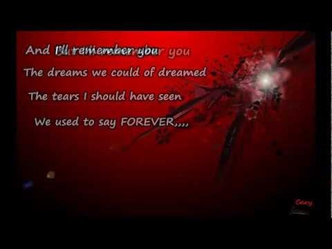 i'll remember you with lyrics