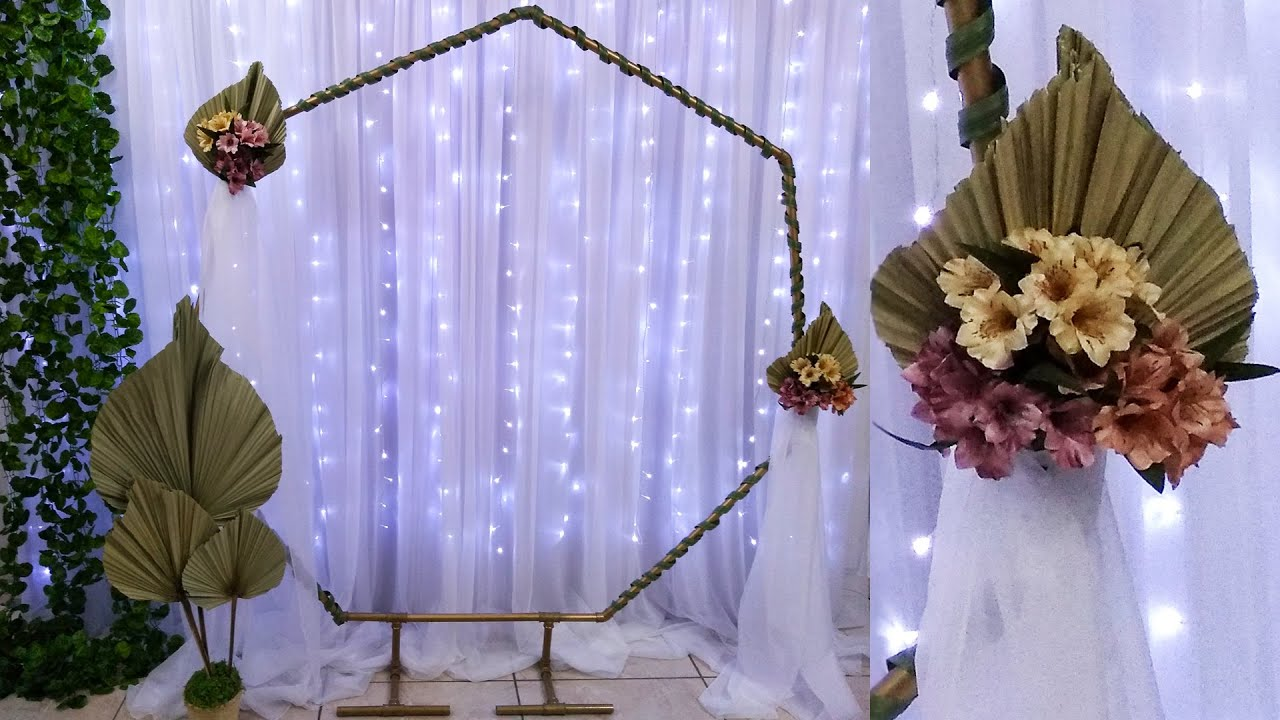Como Fazer Arco de Flores Para Decoração Casamento Arco Floral Sextavado de Cano de Pvc Como Montar