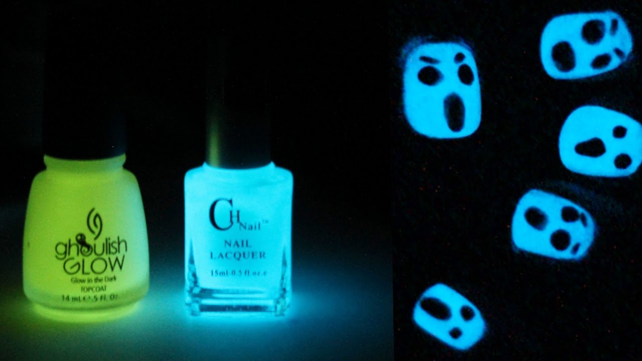 Glow In The Dark Halloween Nail Art Totallycoolnails Youtube