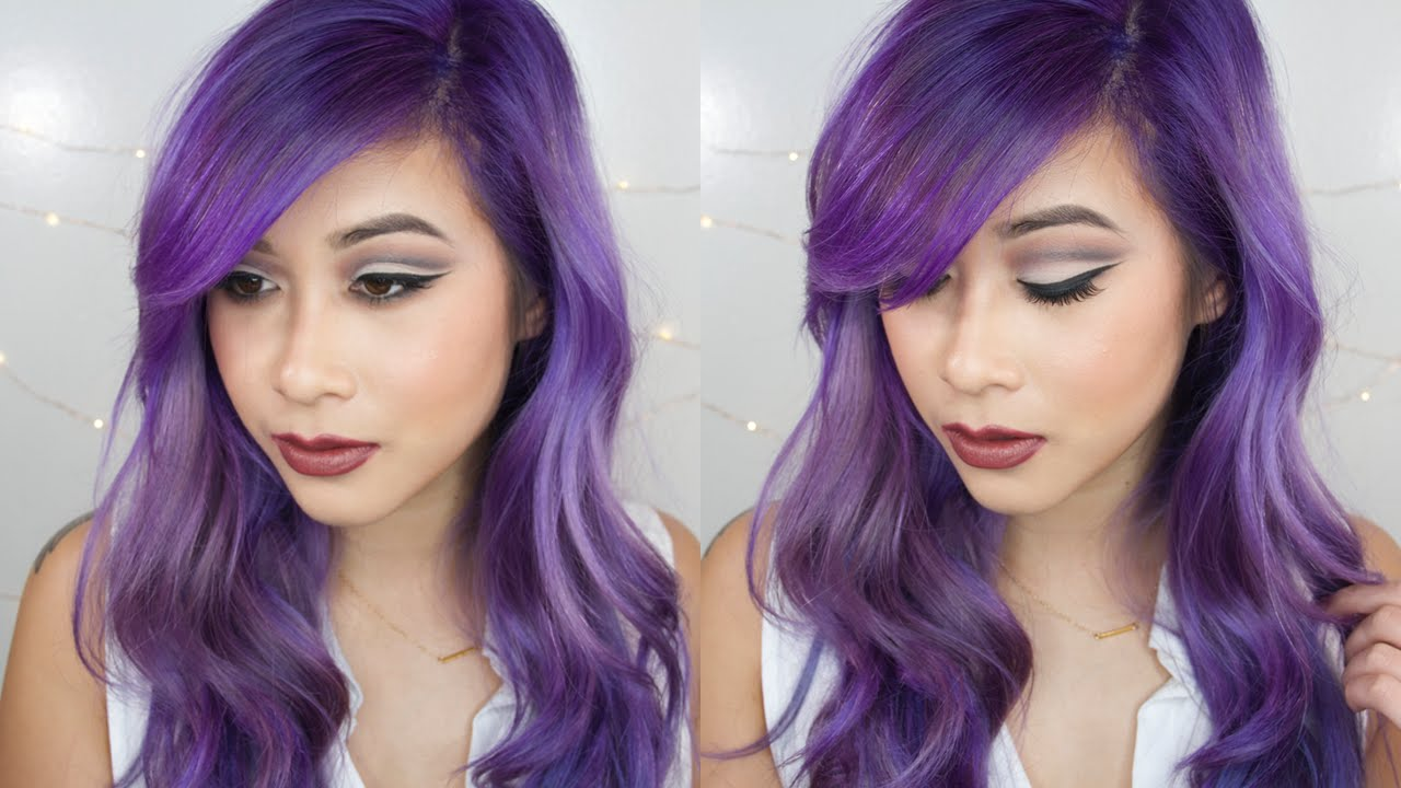 How To Strip Hair Color Touch Up Roots Dye Your Hair Purple Hair