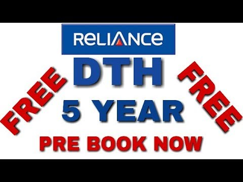 Reliance DTH Service 500 free 2 Air channel for 5 year And HD paid channel Free For 1Year