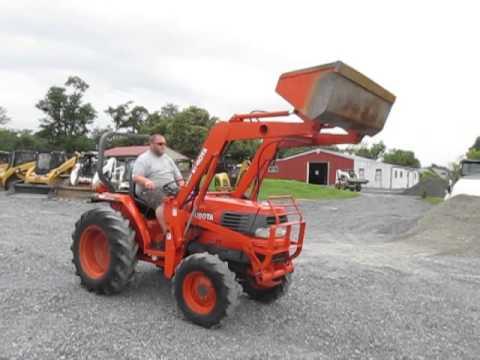 Kubota L2900 Gst 4x4 Compact Tractor W Loader Youtube