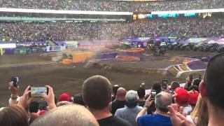 Biggest monster truck front flip in the world