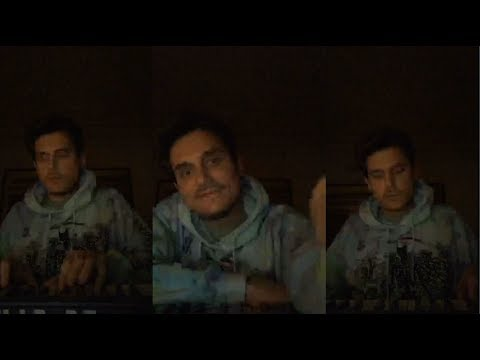 John Mayer Plays a Piano Song Live On Instagram - 26 May 2018